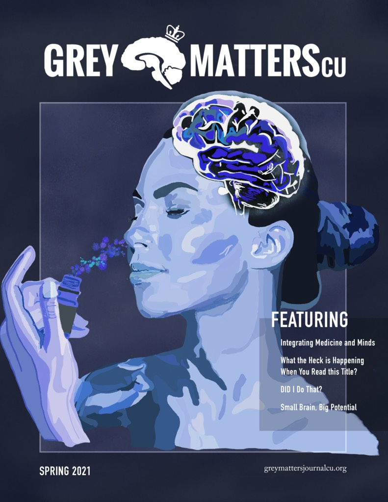Cover of the first issue of Grey Matters CU